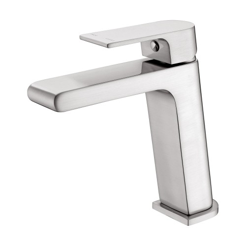 Nero Vitra Basin Mixer Brushed Nickel