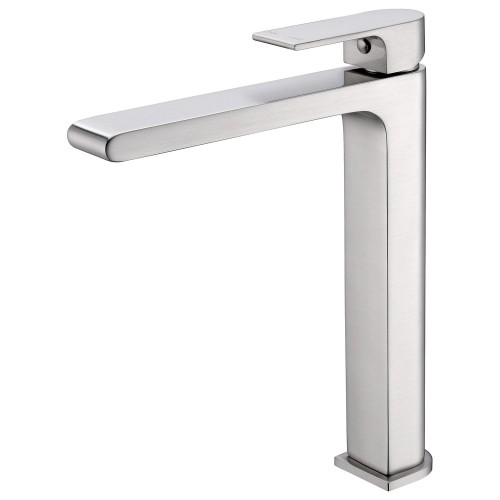 Nero Vitra Vessel Basin Mixer Brushed Nickel