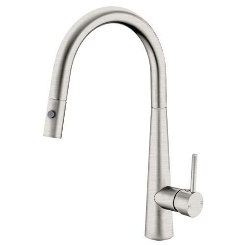 Nero Dolce Pull Out Sink Mixer With Vegie Spray Function/Brushed Nickel