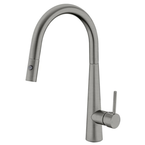 Nero Dolce Pull Out Sink Mixer With Vegie Spray Function/Gun Metal Grey
