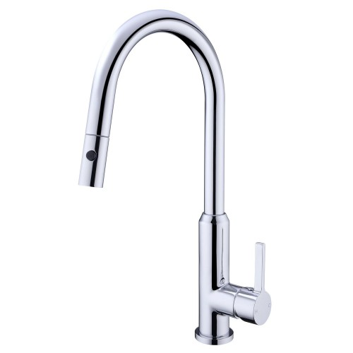Nero Pearl Pull Out Sink Mixer With Vegie Spray Function/Chrome