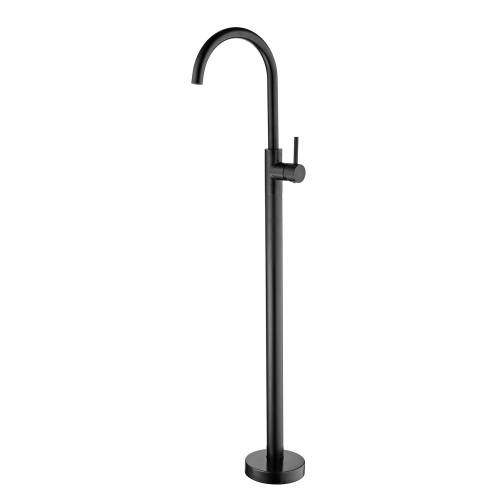 Nero Dolce Gooseneck Floor Mounted Mixer/Matte Black