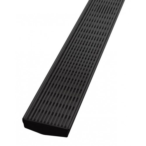 Phoenix V Channel Heelguard Floor Drain 75/600mm/ Outlet 45mm/Matte Black
