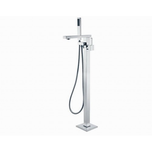 Fienza Jet Floor Mounted Mixer with Hand Shower