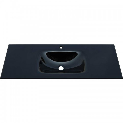 Fienza Mambo 1200 Glass Vanity Top Black