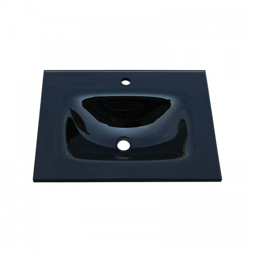 Fienza Mambo 600 Glass Vanity Top Black