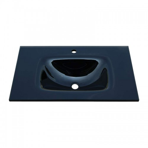 Fienza Mambo 750 Glass Vanity Top Black