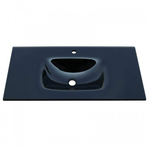 Fienza Mambo 900 Glass Vanity Top Black