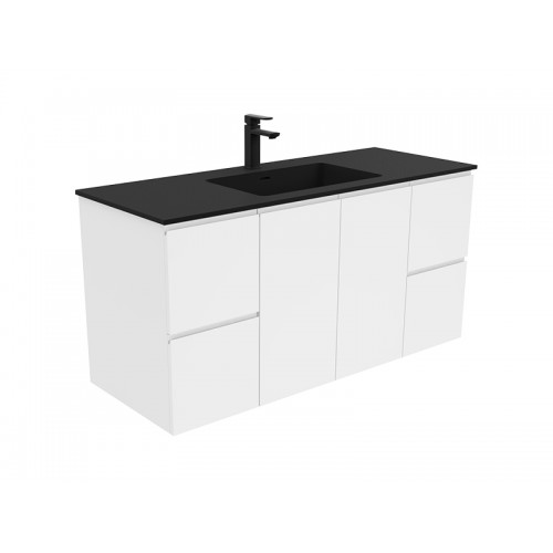 Montana 1200 Solid Surface Top Fingerpull Wall Hung Vanity