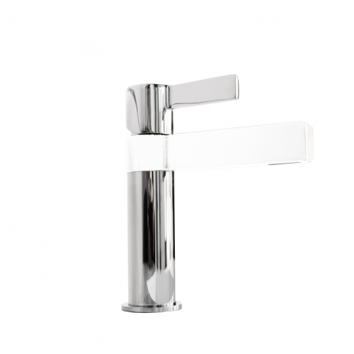 Jamie J Martini Basin Mixer White/Chrome