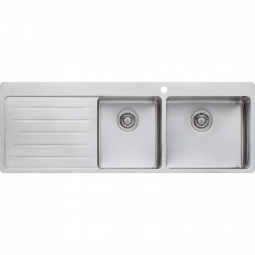 Oliveri Sonetto 1 and 3/4 Bowl Kitchen Sink RH Bowl