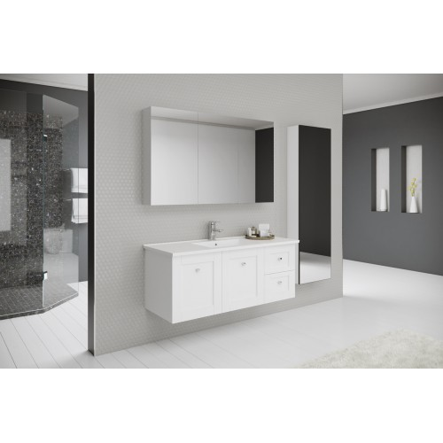 Timberline 1200mm Victoria Wall Hung Vanity with Alpha Top