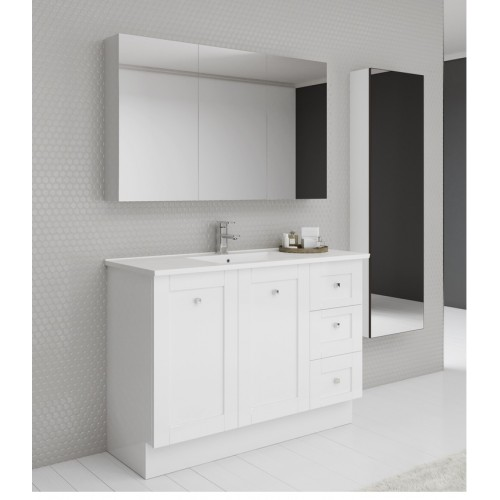 Timberline Victoria 1200 Floor Standing Vanity with Alpha Top