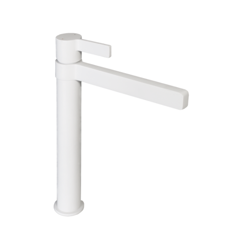 Jamie J Martini Tower Basin Mixer Matte White