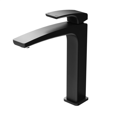 Phoenix Rush Matte Black Vessel Basin Mixer