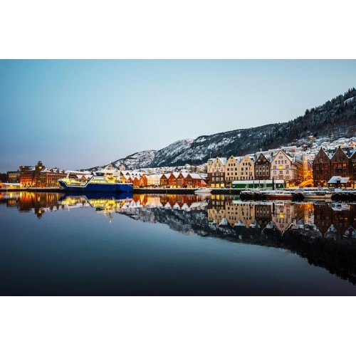 Nordic Harbour Glass Wall Art