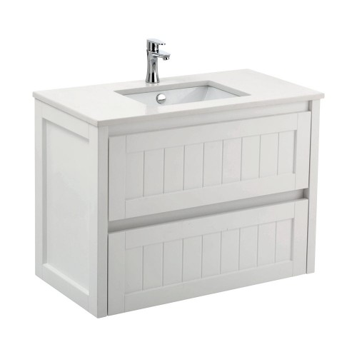 Fienza Hamton 900  with Bianco Marble stone  top and Sarah basin