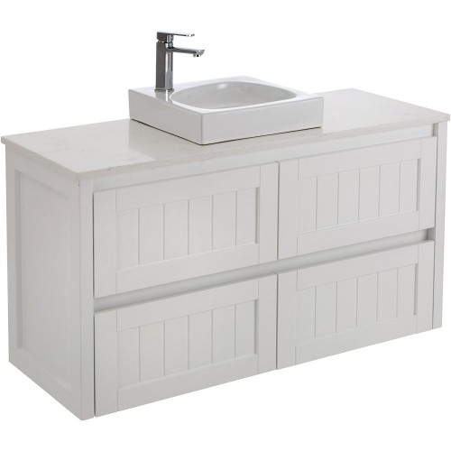 Fienza Hamton 1200 with Bianco Marble stone top and Raine basin