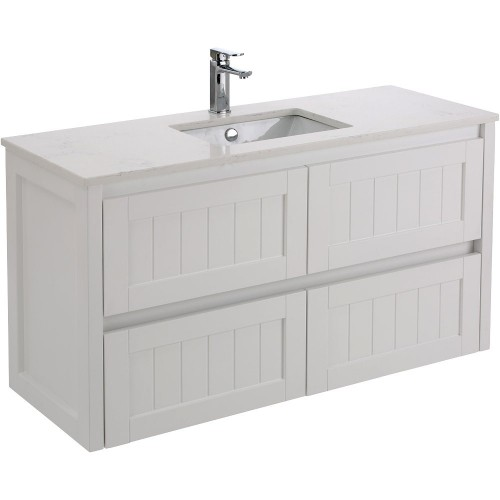 Fienza Hamton 1200 with Bianco Marble stone top and Sarah basin