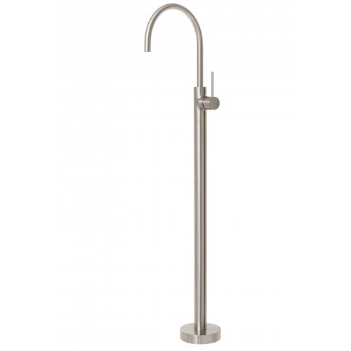 Phoenix Vivid Slimline Floor Mounted Bath Mixer Brushed Nickel