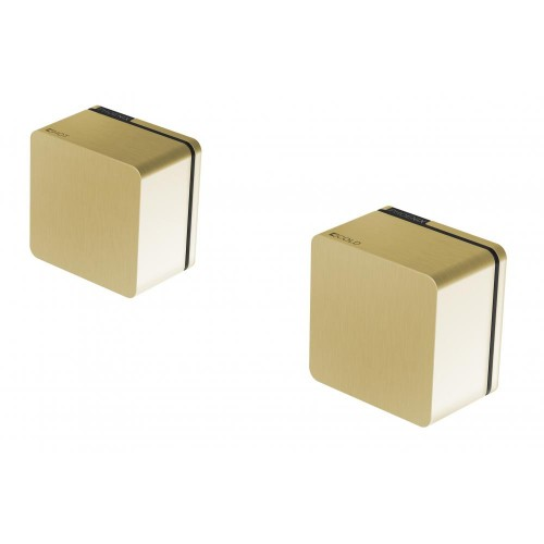 Phoenix Alia Wall Top Assemblies 15MM Extended Spindles Brushed Gold