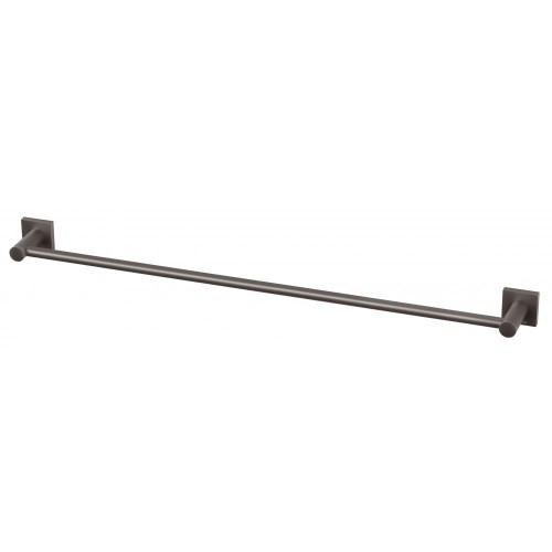 Phoenix Radii Single Towel Rail 800MM Square Plate Gun Metal