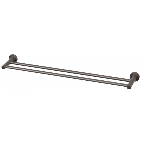 Phoenix Radii Double Towel Rail 800MM Round Plate