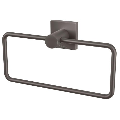 Phoenix Radii Hand Towel Holder Square Plate Gun Metal