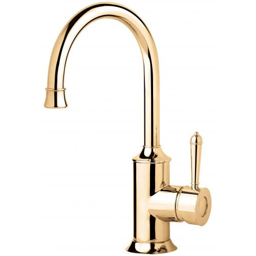 Phoenix Nostalgia Antique Gold Sink Mixer 160MM Gooseneck