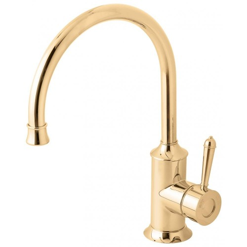 Phoenix Nostalgia Antique Gold Sink Mixer 220MM Gooseneck