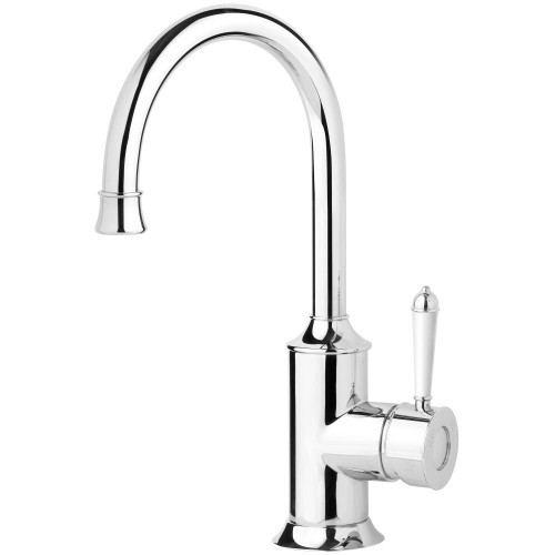 Phoenix Nostalgia Sink Mixer 160MM Gooseneck/Chrome White