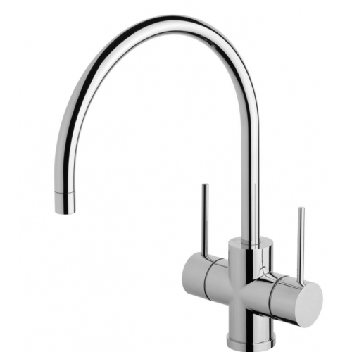 Phoenix Vivid 220mm Slimline Twin Handle Sink Mixer